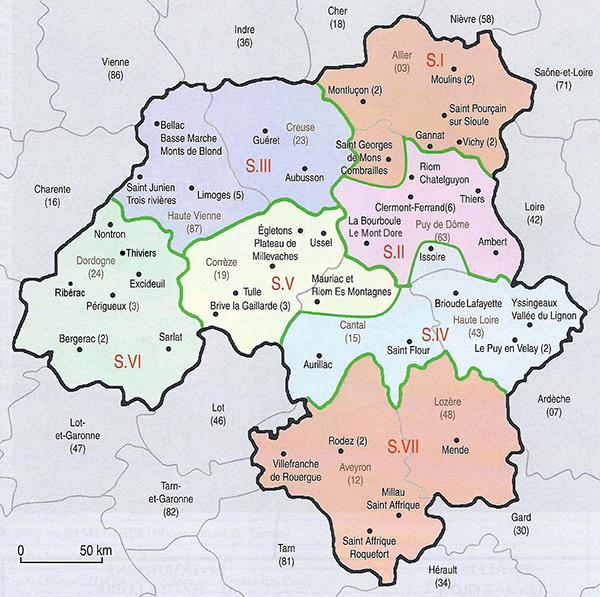 Les 7 secteurs du District 1740